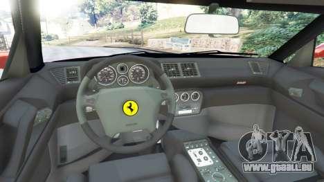 GTA 5 Ferrari F355 arrière droit vue de côté