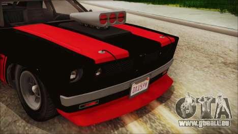 GTA 5 Declasse Tampa IVF pour GTA San Andreas vue intérieure