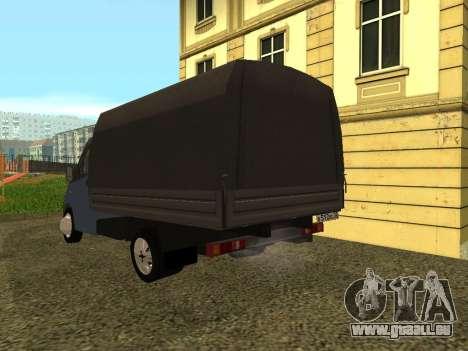 GAZelle Next pour GTA San Andreas sur la vue arrière gauche