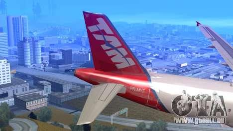 Airbus A320-200 TAM Airlines Oneworld für GTA San Andreas zurück linke Ansicht