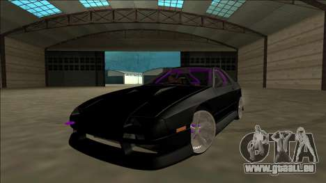Mazda RX-7 FC Drift pour GTA San Andreas vue intérieure