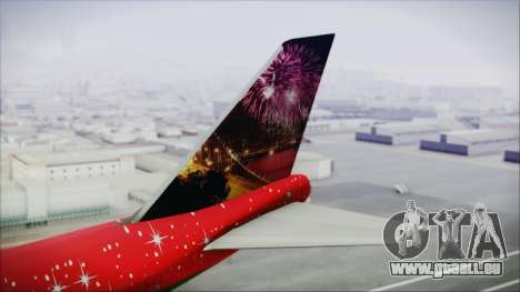 Boeing 747-100 Merry Christmas and Happy NY pour GTA San Andreas sur la vue arrière gauche