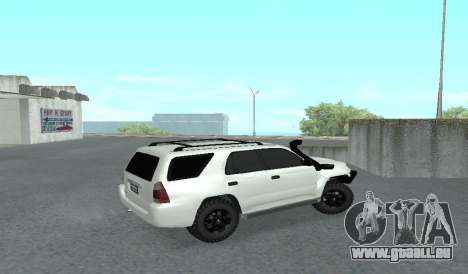 Toyota 4runner 2008 semi-off_road LED für GTA San Andreas zurück linke Ansicht