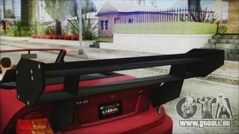 Benefactor Feltzer Super Sport für GTA San Andreas rechten Ansicht