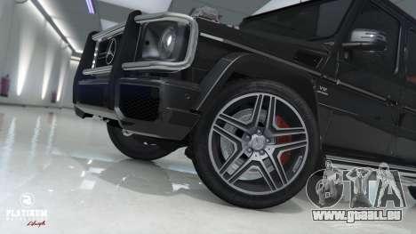 GTA 5 Mercedes-Benz G63 AMG v1 arrière droit vue de côté