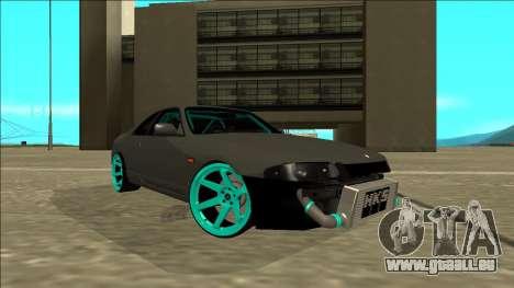 Nissan Skyline R33 Drift pour GTA San Andreas sur la vue arrière gauche