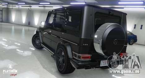 GTA 5 Mercedes-Benz G63 AMG v1 arrière vue latérale gauche