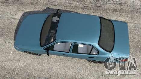 GTA 5 Toyota Corolla 1.6 XEI v1.02 vue arrière