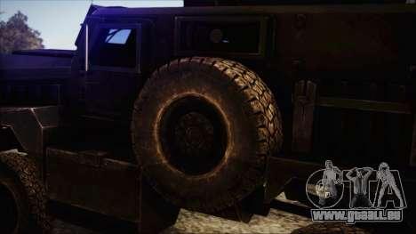 Cougar MRAP 4x4 pour GTA San Andreas sur la vue arrière gauche