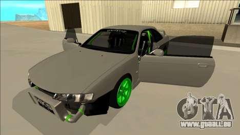Nissan Silvia S14 Drift Monster Energy für GTA San Andreas Seitenansicht