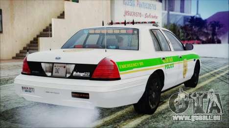 Ford Crown Victoria Miami Dade v2.0 für GTA San Andreas linke Ansicht
