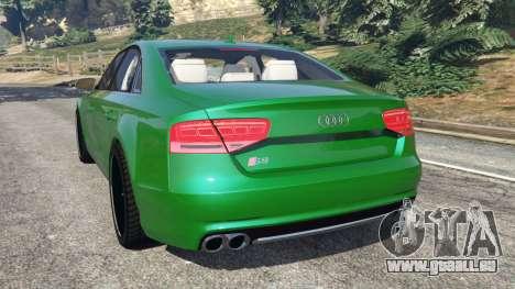 GTA 5 Audi S8 Quattro 2013 hinten links Seitenansicht