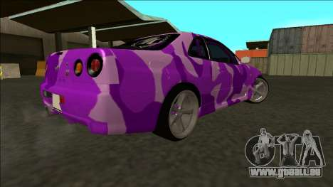 Nissan Skyline R34 Drift pour GTA San Andreas vue intérieure