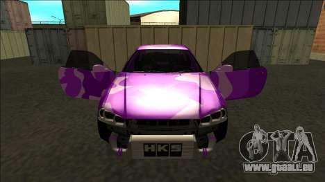 Nissan Skyline R34 Drift pour GTA San Andreas salon
