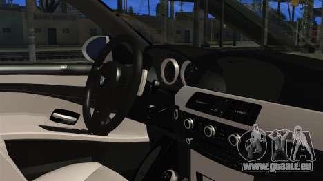 BMW M5 E60 Bosnian Police pour GTA San Andreas vue de droite