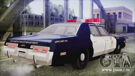 Dodge Monaco 1974 LSPD General Duties Unit pour GTA San Andreas laissé vue