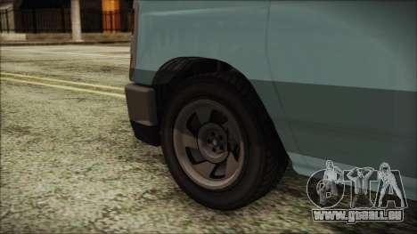 GTA 5 Bravado Rumpo pour GTA San Andreas sur la vue arrière gauche
