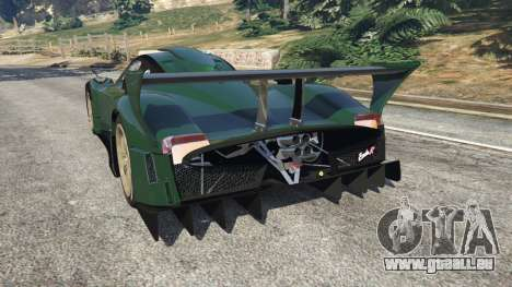 GTA 5 Pagani Zonda R v0.91 hinten links Seitenansicht