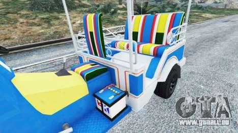 GTA 5 Tuk-Tuk arrière droit vue de côté