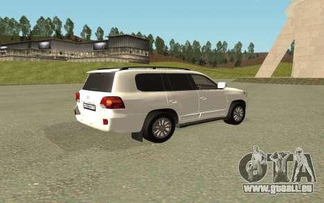 Toyota Land Cruiser 200 Bulkin Edition pour GTA San Andreas laissé vue