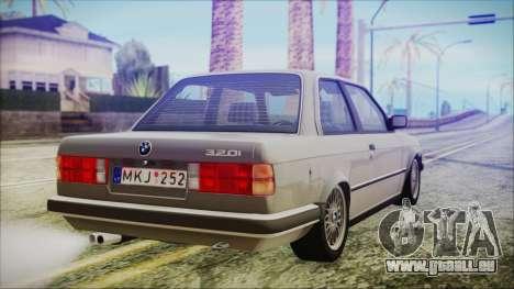 BMW 320i E21 1985 LT Plate pour GTA San Andreas laissé vue