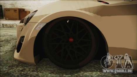 Toyota GT86 für GTA San Andreas zurück linke Ansicht