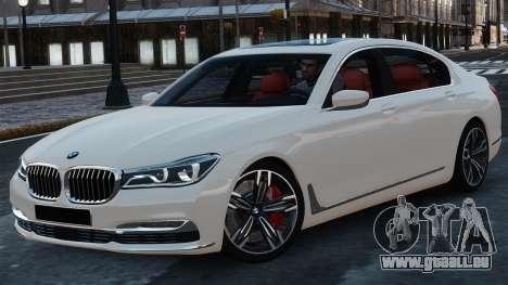 BMW 7-er 2016 pour GTA 4
