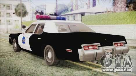 Dodge Monaco 1974 SFPD IVF pour GTA San Andreas laissé vue