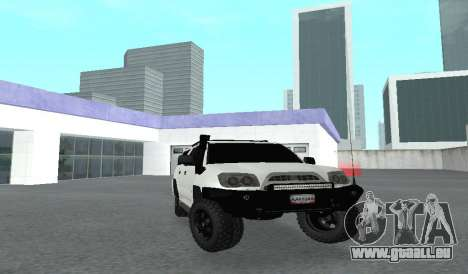 Toyota 4runner 2008 semi-off_road LED pour GTA San Andreas vue arrière