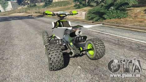 Yamaha YZF 450 ATV Monster Energy pour GTA 5