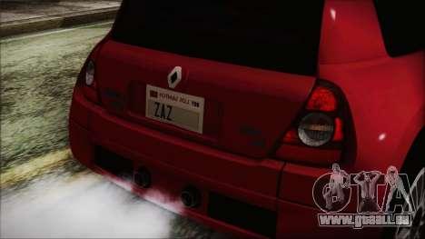 Renault Clio v6 Tunable pour GTA San Andreas vue de droite