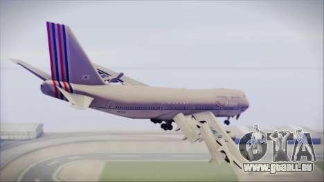 Boeing 747-48E Asiana Airlines für GTA San Andreas linke Ansicht