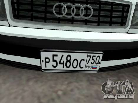 Audi 100 C4 1995 Police pour GTA San Andreas vue de côté