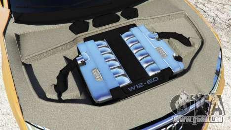 GTA 5 Audi RS7 2016 arrière droit vue de côté