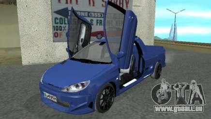 Pegeout 206 PickUP für GTA San Andreas