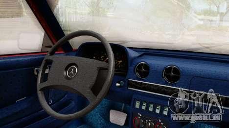 Mercedes-Benz 230E AMG 3.2 1982 Evolution Mod für GTA San Andreas rechten Ansicht