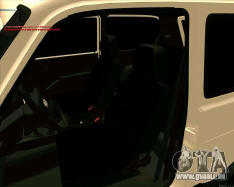 Niva 2121-Dorjar [ARM] pour GTA San Andreas vue de dessus