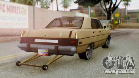 Dodge Dart 1975 Estilo Drag für GTA San Andreas linke Ansicht