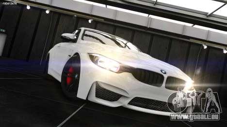 BMW M4 F82 2015 pour GTA 4 est une gauche