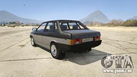 GTA 5 VAZ 21099 v3 arrière vue latérale gauche