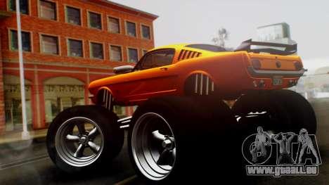 Ford Mustang 1966 Chrome Edition v2 Monster für GTA San Andreas linke Ansicht