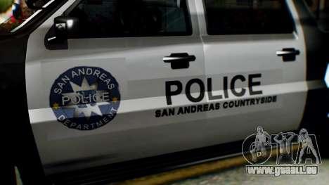 GTA 5 Police Ranger pour GTA San Andreas vue de droite
