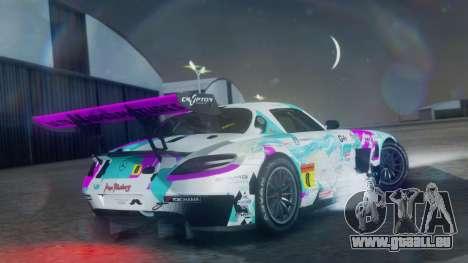 Mercedes-Benz SLS AMG GT3 2015 Hatsune Miku pour GTA San Andreas laissé vue