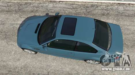 GTA 5 BMW M3 (E46) 2005 vue arrière