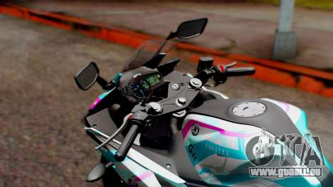 Yamaha R25 2015 EV Mirai Miku Racing 2013 pour GTA San Andreas vue arrière
