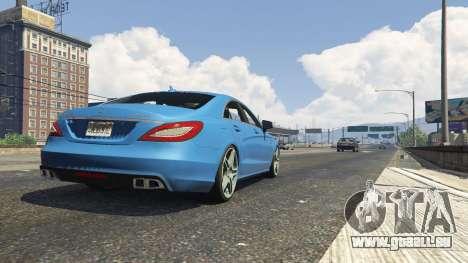 GTA 5 Mercedes-Benz CLS 6.3 AMG 1.1 arrière droit vue de côté