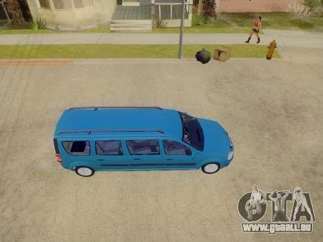 Lada Largus 7-door pour GTA San Andreas vue intérieure