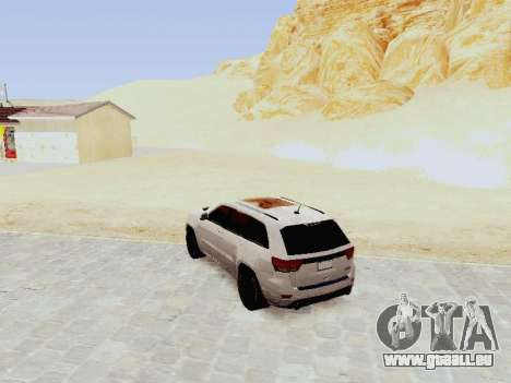 Jeep Grand Cherokee SRT8 2013 Tuning für GTA San Andreas zurück linke Ansicht