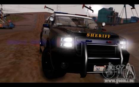 GTA 5 Declasse Sheriff Granger IVF pour GTA San Andreas vue de droite