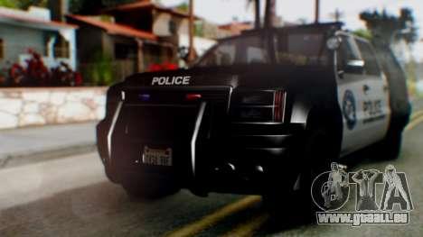GTA 5 Police Ranger pour GTA San Andreas laissé vue